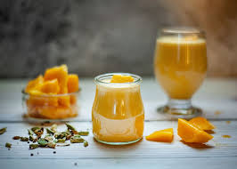 clear glass cup, mango, drink, fruits, diet, healthy, smoothie ...